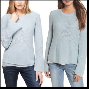Lucky Brand blue Niko pullover layered sweater